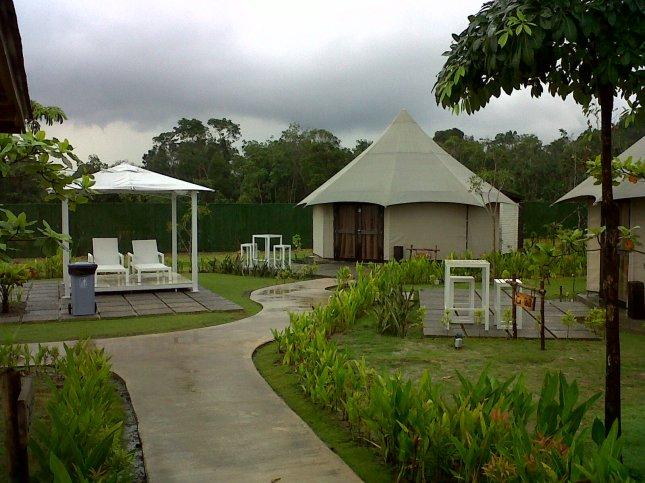 Taman di depan kamar The Canopi